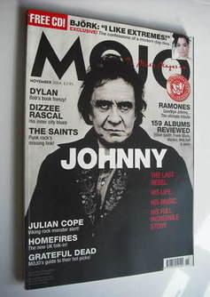 <!--2004-11-->MOJO magazine - Johnny Cash cover (November 2004 - Issue 132)
