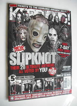 <!--2011-04-09-->Kerrang magazine - Slipknot cover (9 April 2011 - Issue 13