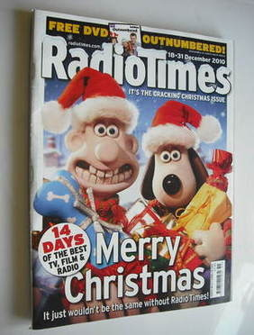 <!--2010-12-18-->Radio Times magazine - Wallace and Gromit cover (18-31 Dec
