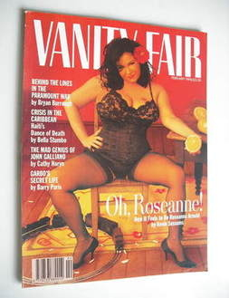 Vanity Fair magazine - Roseanne Arnold cover (February 1994)