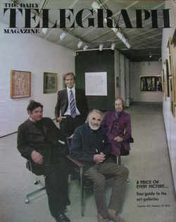 The Daily Telegraph magazine - Art Galleries cover (30 January 1976)