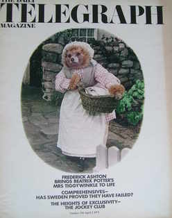<!--1971-04-02-->The Daily Telegraph magazine - Mrs Tiggy-Winkle cover (2 A