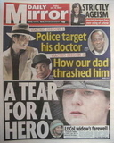 Daily Mirror newspaper - Michael Jackson cover (17 July 2009)