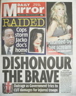 Daily Mirror newspaper - Michael Jackson cover (29 July 2009)