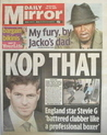 Daily Mirror newspaper - Steven Gerrard cover (22 July 2009)