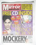 Daily Mirror newspaper - With 20Ten, the new Prince album (10 July 2010)
