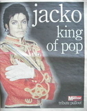 Daily Mirror newspaper supplement - Jacko King Of Pop Tribute pullout (27 J