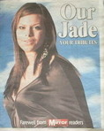 Daily Mirror newspaper supplement - Our Jade Tribute