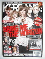 <!--2010-10-02-->Kerrang magazine - Bring Me The Horizon cover (2 October 2