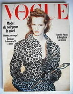 French Paris Vogue magazine - April 1989 - Isabelle Pasco cover