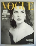 French Paris Vogue magazine - June-July 1988 - Princess Caroline cover