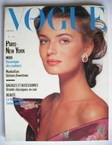 French Paris Vogue magazine - October 1988 - Paulina Porizkova cover