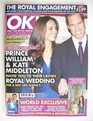 <!--2010-11-30-->OK! magazine - Prince William and Kate Middleton cover (30