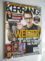<!--2010-09-18-->Kerrang magazine - Weezer cover (18 September 2010 - Issue