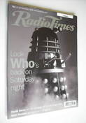 <!--1999-11-13-->Radio Times magazine - Doctor Who Daleks cover (13-19 Nove