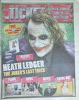 Daily Mirror Ticket newspaper supplement - Heath Ledger cover (25-31 July 2