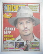 Daily Mirror Ticket newspaper supplement - Johnny Depp cover (3 July 2009)