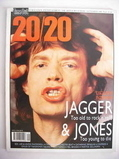 Time Out 20/20 magazine - Mick Jagger cover (September 1989 - Issue 6)