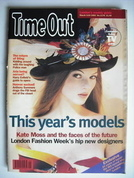 Time Out magazine - Kate Moss cover (3-10 March 1993)