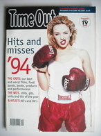 <!--1994-12-14-->Time Out magazine - Kylie Minogue cover (14-21 December 19
