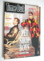 <!--1989-07-12-->Time Out magazine - Pet Shop Boys cover (12-19 July 1989)