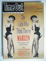 Time Out magazine - Marilyn Monroe cover (14-21 June 1989)