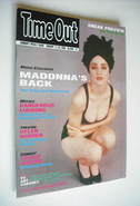 <!--1989-01-11-->Time Out magazine - Madonna cover (11-18 January 1989)