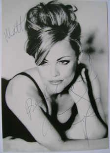 Belinda Carlisle autograph