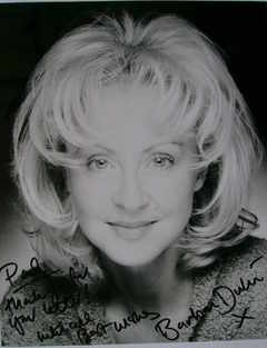 Barbara Durkin autograph (hand-signed photograph, dedicated)