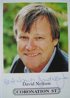 David Neilson autograph (hand-signed Coronation Street cast card)