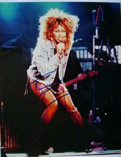 Tina Turner autograph