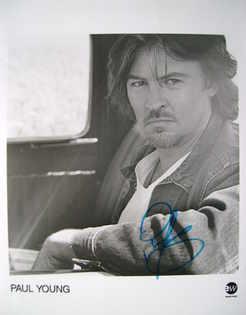 Paul Young autograph