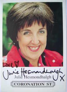 Julie Hesmondhalgh autograph