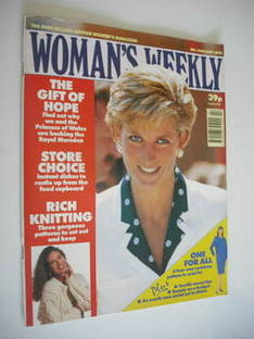 <!--1991-01-08-->Woman's Weekly magazine (8 January 1991 - Princess Diana c