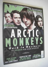 <!--2011-04-09-->NME magazine - Arctic Monkeys cover (9 April 2011)