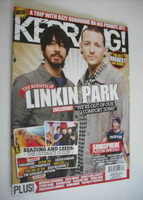 <!--2010-08-28-->Kerrang magazine - Linkin Park cover (28 August 2010 - Iss