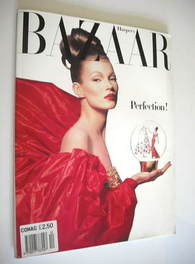 Harper's Bazaar magazine - December 1992 - Kate Moss cover