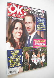 <!--2011-04-29-->OK! magazine - Prince William and Kate Middleton cover (29