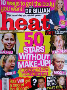 <!--2004-10-16-->Heat magazine - Stars Without Make-up! cover (16-22 Octobe