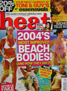 <!--2004-10-02-->Heat magazine - 2004's Most Improved Beach Bodies cover (2