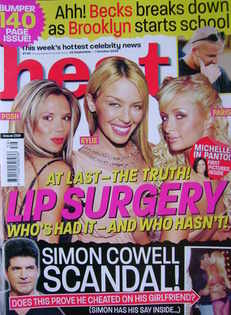 <!--2004-09-25-->Heat magazine - Lip Surgery cover (25 September - 1 Octobe