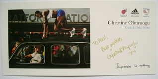 Christine Ohuruogu autograph