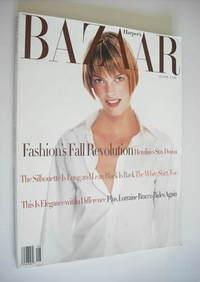 Harper's Bazaar magazine - August 1993 - Linda Evangelista cover