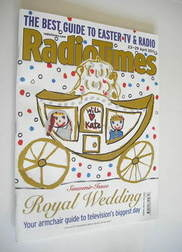 <!--2011-04-23-->Radio Times magazine - Royal Wedding cover (23-29 April 20