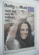 Daily Mail newspaper - Kate Middleton cover (29 April 2011)