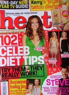 <!--2005-01-01-->Heat magazine - 102 Celeb Diet Tips cover (1-7 January 200