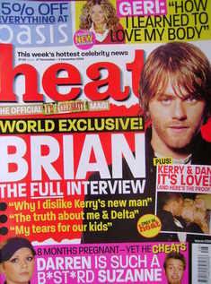 <!--2004-11-27-->Heat magazine - Brian McFadden cover (27 November - 3 Dece