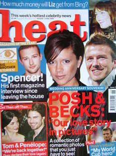 Heat magazine - Posh & Becks cover (29 June - 5 July 2002 - Issue 174)