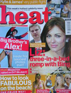 <!--2002-07-06-->Heat magazine - Liz Hurley cover (6-12 July 2002 - Issue 1