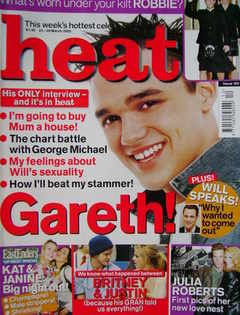 <!--2002-03-23-->Heat magazine - Gareth Gates cover (23-29 March 2002 - Iss